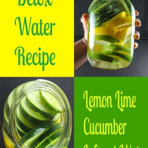 Detox: Lemon Lime Cucumber Infused Water